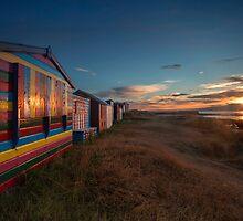 Hopeman Beach Huts by Andrew Watson