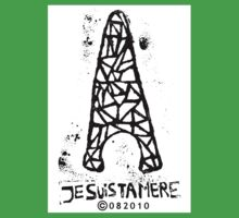 Je Suis Ta Mere - Eiffel Tower - I Am Your Mother - Paris - Black White Kids Clothes