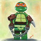 Ninja Turtle - lego style by Deborah Cauchi