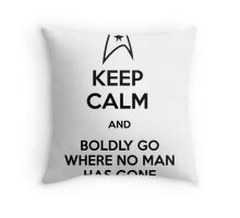 Keep Calm and Star Trek Throw Pillow