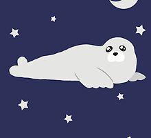Baby Harp Seal by SaradaBoru
