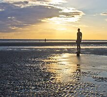 Sunset over Crosby beach by Paul Madden