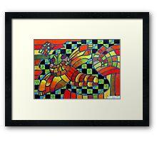 388 - KANDOZZI DESIGN - DAVE EDWARDS - COLOURED PENCILS - 2013 Framed Print