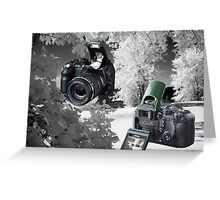 ☀ ツMY FUGIFILM Is-1 INFRARED CAMERA INSIDE,PICTURE TAKEN WITH THE INFRARED CAMERA ☀ ツ Greeting Card