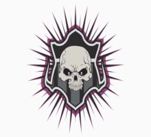 Skull w/Shield-Purple by SkillDesigns
