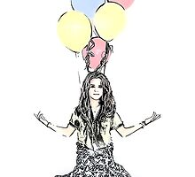 Meditating Baloons by Lisa Marie