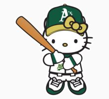 Oakland A's Hello kitty by daleos
