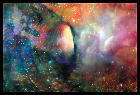 A Portal Opening / Navel of the Cosmos  by Ashley Christudason