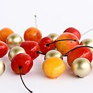 Cherries & Golden balls by Anaa