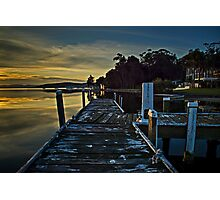 Squids Ink Jetty  Photographic Print