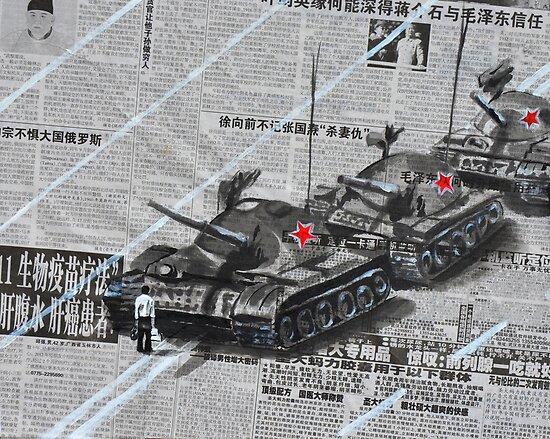 Tank Man of Tiananmen by Jamie Alexander