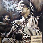 Portrait of  Dexter Gordon by Franko Camue