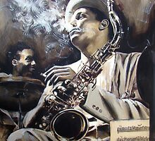 Portrait of  Dexter Gordon by Franko Camue