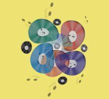 Retro Vinyl Record Music Tee by simpsonvisuals
