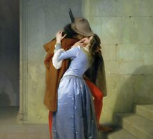 The Kiss by Francesco Hayez by Bridgeman Art Library