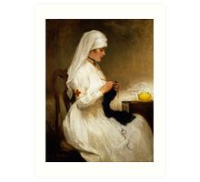 Portrait of a Nurse from the Red Cross Art Print