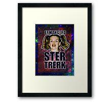 ERMAHGERD STER TRERK Framed Print