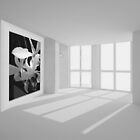 Petals & Light Mosaic in Black & White by Laurianne  Macdonald