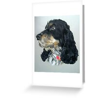 English Cocker Spaniel Dog Greeting Card