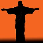 Christ the Redeemer silhouette sunset by kreativekate