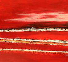 Fields of Fire I - Diptych by Kathie Nichols
