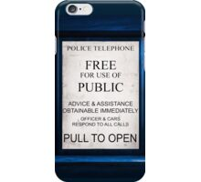 Tardis Text on..Everything.Quite geeky. iPhone Case/Skin