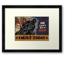 Star Wars Dark Side Cartoon Framed Print