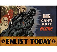 Star Wars Dark Side Cartoon Photographic Print