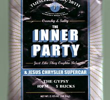 The Inner Party Show Flyer - April 28, 2009 by Keith Miller