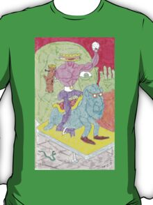 sandwich man and his snowglobe T-Shirt