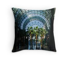 Reflecting on Palm Trees and Arches Throw Pillow