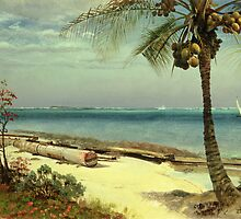Tropical Coast by Albert Bierstadt by Bridgeman Art Library