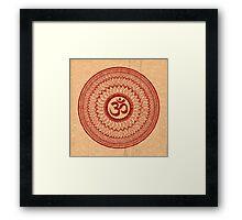om mandala (liáliom) Framed Print