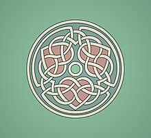 Triple Heart Celtic Knot by chromedreaming