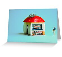 The Strawberry kiosk Greeting Card