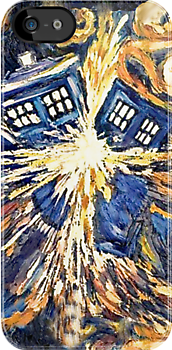 Exploding TARDIS iPhone & iPod Cases