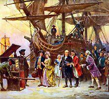 Ben Franklin Returns To Philadelphia by warishellstore