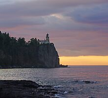 Sunrise At Spilt Rock Light House by Tina Hailey