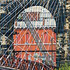 Wheeling Suspension Bridge East Tower by Kenneth Keifer