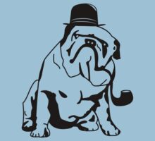 English Bulldog in Top Hat and Pipe by Bob Buel