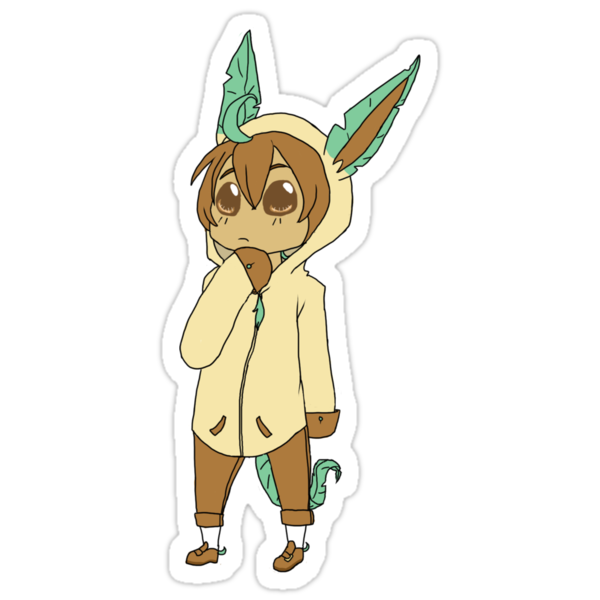 Leafeon Chibi by AwkwardHandsome