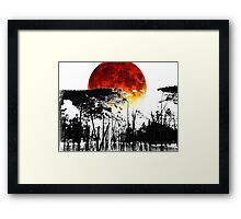 The Red Moon - Landscape Art By Sharon Cummings Framed Print