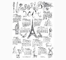 PARIS 2014 Doodle Calendar   Kids Clothes