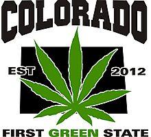 Colorado Marijuana Cannabis Weed T-Shirt Photographic Print