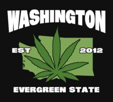 Washington Marijuana Cannabis Weed T-Shirt by MarijuanaTshirt