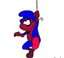 Spider Smurf by Skree