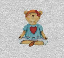 Live Love Yoga Bear (no background) Kids Clothes