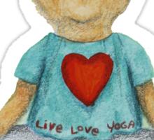 Live Love Yoga Bear (no background) Sticker