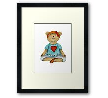 Live Love Yoga Bear (no background) Framed Print