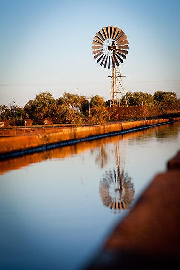 Windmill @ Myalls Bore, Derby WA by Mark Ingram